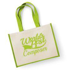 World's Best compositeur Cadeau Jute Shopping Cabas Sac