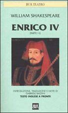 LIBRO, Enrico IV (parte I-II). Testo inglese a fronte, WILLIAM SHAKESPEARE