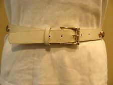Belt - Ivory Belt with Yellow rhinestones & metal studwork - PVC - NWOT