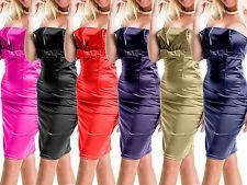 Pencil Kleid Coctailkleid Satinkleid Abendkleid Corsagekleid Gr.34,36,38,Stretch