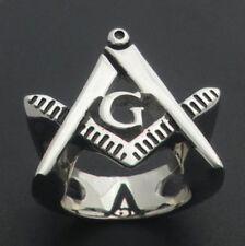 Free Mason Ring - Cut Out Symbol Freemasonry - Steel Silver Color Masonic Rings