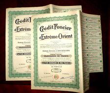 Credit Foncier d´Extrême-Orient,Share certificate 1946 China-Belgium x 2