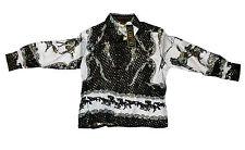 Kid's Silk Metallic Shirt Rodeo Design Long Sleeve