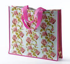 Diseño Floral Vintage Rosas Inglés de PVC Bolsa Shopper De Compras Nuevo 18606