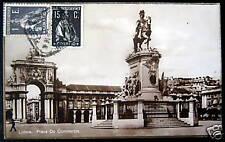 Portugal~1925 Lisboa~Praca Do Commercio rppc Stamps !
