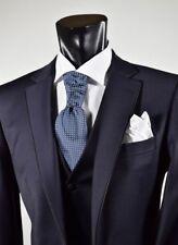 Abito Elegante Digel Cerimonia Uomo con panciotto Drop quattro corto Blu e Nero