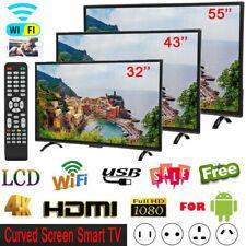 32/43/55 inch Smart TV Curved 4K Ultra HD LED 3000R HDMI VGA USB RF Interface