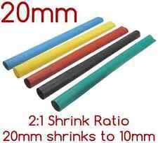 1m x 20mm Polyolefin Heat Shrink Tubing/Tube 2:1 ratio 20mm shrinks to 10mm