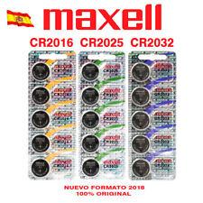 MAXEL CR2016 CR2025 CR2032 PILAS  BATERÍA LITIO 3 V MAXELL LITHIUM BATERY