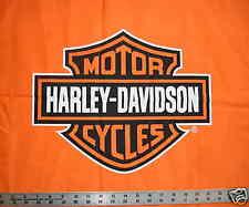 Orange Bar and Shield Logo HARLEY DAVIDSON Quilt Fabric fq fat quarter