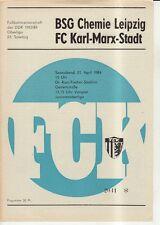 OL 83/84  FC Karl-Marx-Stadt - BSG Chemie Leipzig