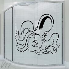 Bathroom Octopus Wall Art Decal Vinyl Sticker