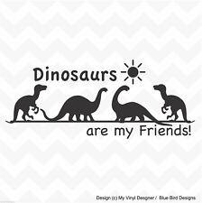 Dinosaurs are my friends vinyl wall art sticker nursery kids room skirting board