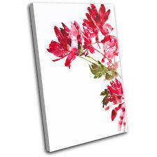 Flowers BOTANICAL Floral SINGLE LONA pared arte Foto impresion