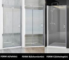 Nischentür Duschabtrennung Duschwand Dusche Schwingtür Falttür NANO 70-120 cm