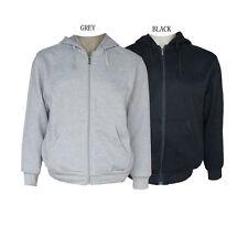 100% Cotton zip through Fleece Lined hoodies s-XXXL black,grey