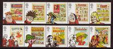 Gran Bretagna 2012 Comics Set di 10 in strisce di 5 MNH, unminted MINT.