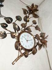 Horloge murale LIS fer forgé couleur or