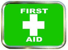 First Aid 2oz Gold Tobacco Tin,Stash Can,Storage Tin,Survival Box