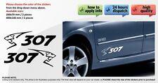 PEUGEOT 307 SPORT car body tuning custom vinyl Sticker Decal Graphic 2 stickers