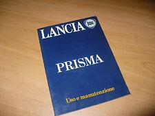 LIBRETTO USO E MANUTENZIONE LANCIA PRISMA 1300 1500 1600 2a EDIZIONE I-1983