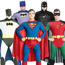 Batman Robin Superman Fancy Dress Men's Superhero Adult Gents Costume Outfit