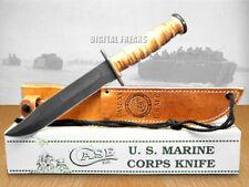 CASE XX USMC Carbon & Leather Combat Knives Knife