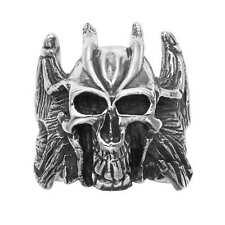Heavy Sterling Silver Devil w/Bat Wings Ring - R385