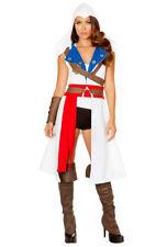 Roma womens Assassins creed hooded coat costume