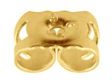 Véritable 9 Ct Or Jaune Scrolls Papillon Dos pour clous & Fantaisie Boucle d'oreille tiges NEUF