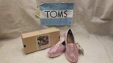 NEW!! Toms Women's Slip-On Pink Glitter Size 6.5
