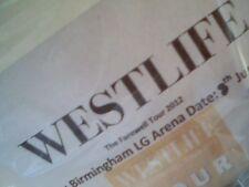 WESTLIFE - FAREWELL 2012 TOUR -  VIP Badge details - COPY of original