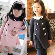 2018 Childrens Girls Kids Long Sleeve Casual Mini Dresses Cute Clothes k47