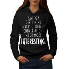 Wellcoda Dirty Mind Interest Womens Hoodie, Funny Casual Hooded Sweatshirt