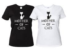 Mother of Cats Maglietta Divertente Donna Gatti Game of Thrones Trono di Spade