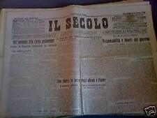 Il Secolo 20/11/1918 Ammiraglio Millo a Sebenico e Zara