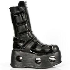 New Rock Boots M.309- Space Laarzen Zwart Leer - Goth, Punk,Gothic