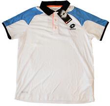 LOTTO Matrix Tech white/aquarius polo shirt man polo bianca/celeste uomo