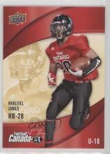 2013 Upper Deck USA Football Canada Rivals #C-9 Khaliiel James Rookie Card