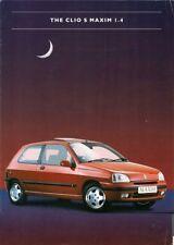 Renault Clio 1.4 S Maxim 1996-98 UK Market Sales Brochure