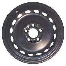 New 15x6.5 Steel Wheel, Rim Flat Black Full Face Painted - 70201