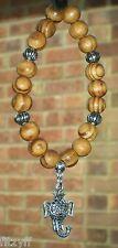 In Car Elephant Head Charm & Wooden Beads Ganesha Ganesa Ganapati Ganesh Hindu