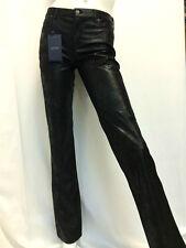 Pantalone in eco pelle nero Armani Jeans Donna V5J52SZ
