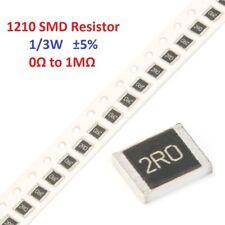 20PCS 1/3W 1210 SMD/SMT Chip Resistors ±5% 0R 4.7R 27R 39R 51R 510R 33KR To 1MR