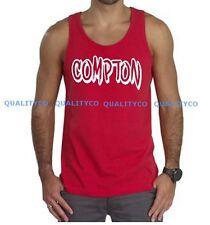 New Men's Compton Graffiti Red Tank Top dope nwa Eazy E Weed Hip Hop kush Tee