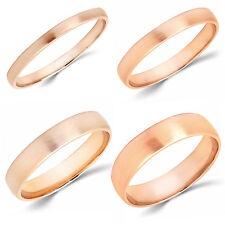10K Rose Gold 2mm 3mm 4mm 5mm Brush Comfort Finish Fit Wedding Band Ring