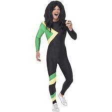 90s Jamaican Hero Bolt Bobsleigh Bobsled Cool Runnings Mens Fancy Dress Costume