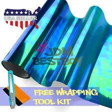 *Galaxy Chameleon Neo Chrome Dark Blue Headlight Taillight Fog Light Tint Film