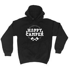 Happy Camper Camping Trip Adventure Funny HOODIE Birthday gift present joke