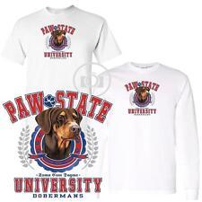 Doberman Pinscher #2 Dog Paw State University Short / Long Sleeve White T Shirt